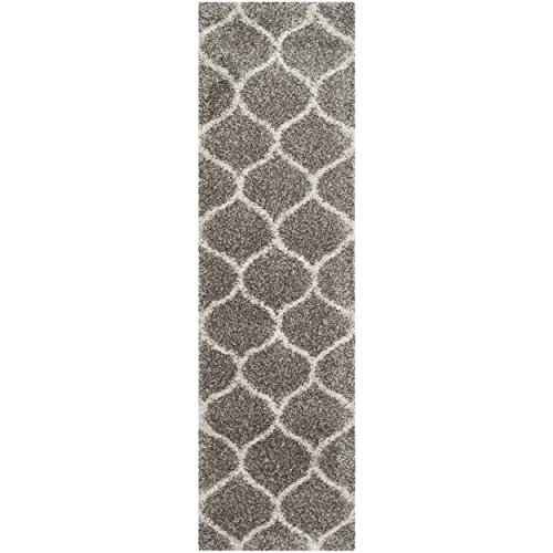 Safavieh Hudson Shag Collection SGH280B Grey And Ivory