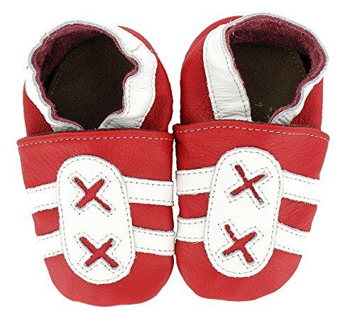 Hobea Germany HOEF085421 Chaussons Bébé en Cuir Doux Sneaker Design Taille 4/4,5