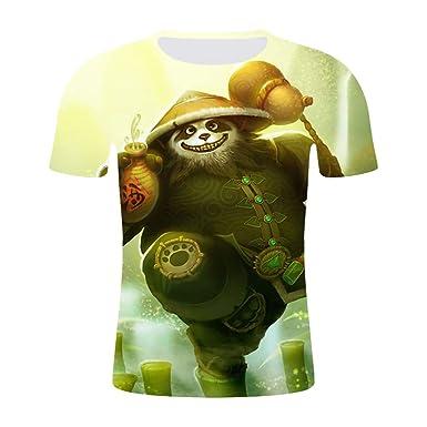 JXKEF Impresora De Camisetas 3D Anime Movie Game Panda Hombre De ...