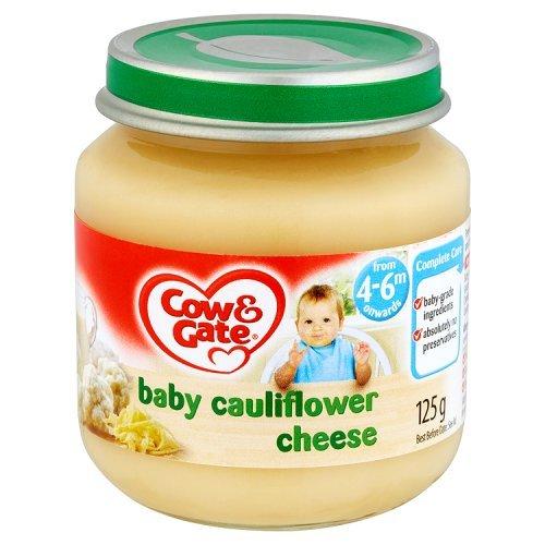 Cow & Gate - Baby Food 4-6 Months - Baby Cauliflower Cheese - 125g 42372
