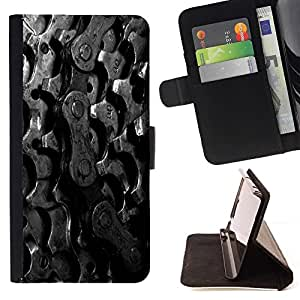For LG G4 Stylus / G Stylo / LS770 H635 H630D H631 MS631 H635 H540 H630D H542 Case , Cadena Piñones Bike- la tarjeta de Crédito Slots PU Funda de cuero Monedero caso cubierta de piel