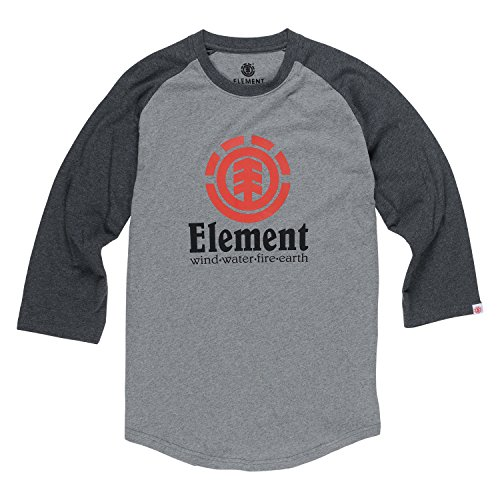 Element Boardshorts - Element Men's Vertical 3/4 Sleeve Tee Grey Heather Charcoa Xl