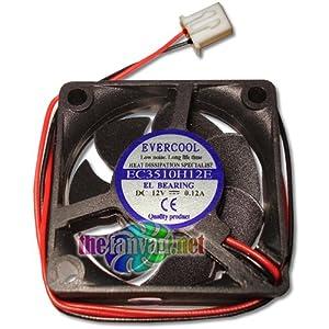 Evercool 35mm x 10mm 12 Volt Everlube Bearing Fan w/2 Pin 7mm Connector EC3510H12E Tivo Roamio