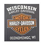 Harley-Davidson Men's Elongated Orange Bar & Shield
