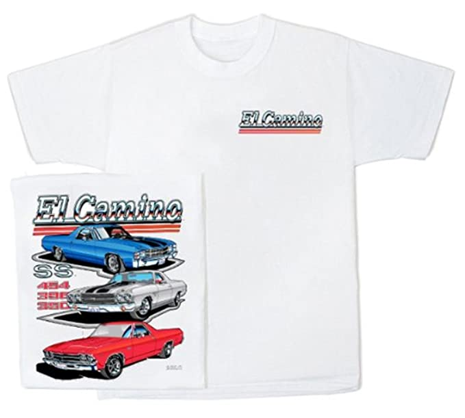 5c6afcc10 A&E Designs Chevy EL Camino Retro Vintage Classic Car T-Shirt, Small White
