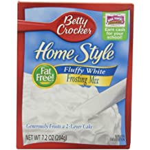 Betty Crocker Frosting, Home Style Fat Free Frosting, Fluffy White, 7.2 Oz Box (Pack of 12)