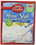 Betty Crocker Home Style Fluffy White Frosting Mix, 7.2 oz Box, 12 Pack