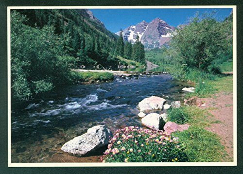 (Maroon Creek Bells Snowmass Wilderness White River National Forest Colorado CO)