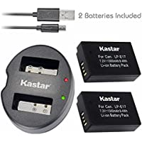 Kastar Battery (X2) & Dual USB Charger for Canon LP-E17, LC-E17, LC-E17C and Canon EOS M3, EOS Rebel T6i, EOS Rebel T6s, EOS 750D, EOS 760D, EOS 8000D, Kiss X8i camera