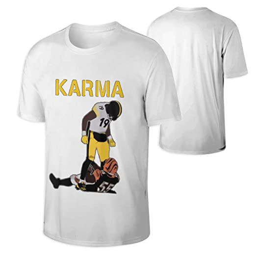 b9225b1d Amazon.com: Man's Steelers Karma JuJu Smith-Schuster Vontaze Burfict Funny T -shirt: Clothing