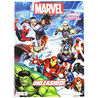Marvel Heroes Jumbo Coloring & Activity Book: Toys & Games