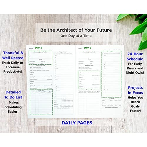 outlet gazelle planner pro guided daily planning to improve organization time management success