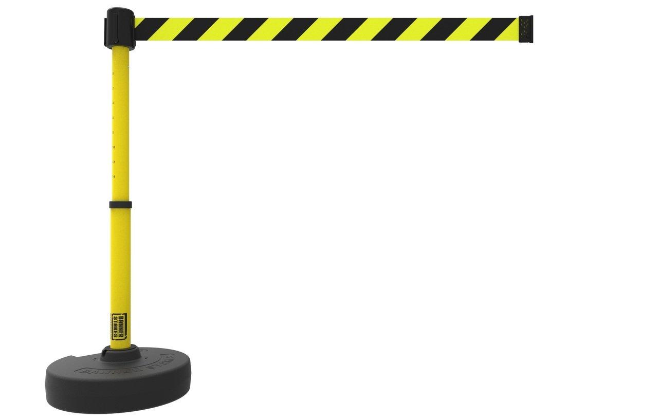 PLUS Barrier Set, Yellow/Black Diagonal Stripe PL4091