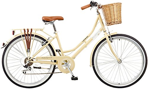 "Viking 2018 Belgravia Ladies Traditional Heritage 26"" Wheel 6 Speed Bike Latte"