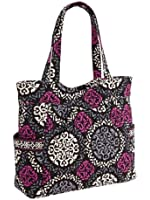 Vera Bradley Pleated Tote Zip Top Bag