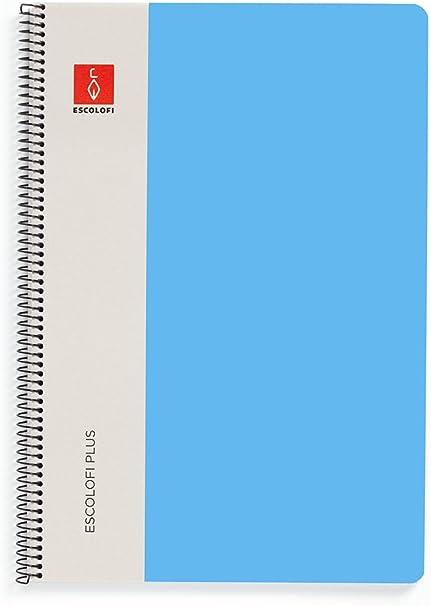 Escolofi Pack de 3 libretas de espiral de 80 hojas de 90 gr/m2 DIN ...