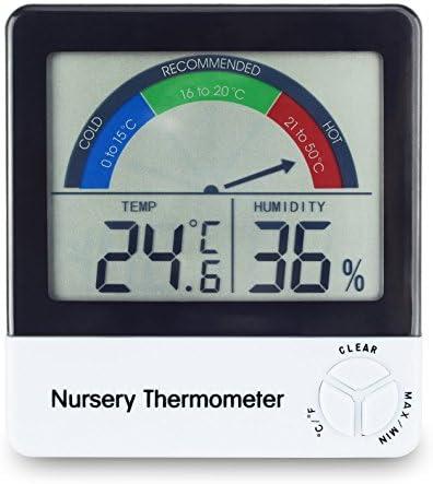 Termómetro para guardería para monitorear la temperatura ambiente de los niños o bebés: Amazon.es: Bebé