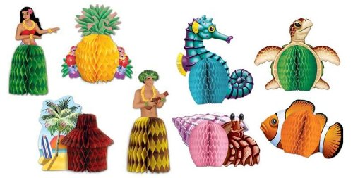 Beistle Luau and Sea Creatures Centerpieces/Luau Party Supplies and Table Decor/Luau Decorations