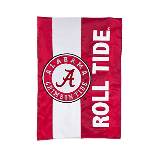 Team Sports America University of Alabama Outdoor Safe Double-Sided Embroidered Logo Applique Garden Flag, 12.5 x 18 inches