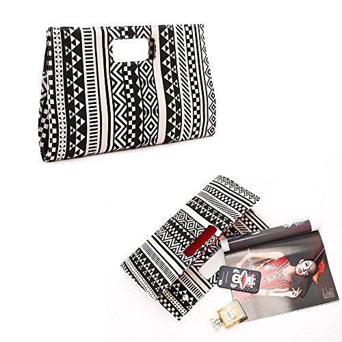 Purse Wedding Evening Party Geometric Wallet Pattern Clutch Women Handbag Bag qw600Z