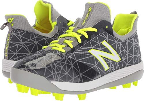 - New Balance Boys' Furon V1 Molded Soccer Shoe, Grey/hi-Liter, 11 W US Little Kid