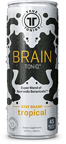 TRUE TONiQS Brain Toniq, Tropical, 12 Ounce (Pack of 12)