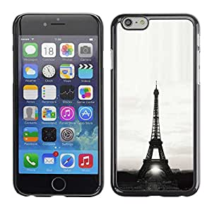 "Exotic-Star ( Architecture Eiffel Tower Sun B&W ) Fundas Cover Cubre Hard Case Cover para 5.5"" iPhone 6 Plus"