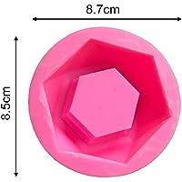 Molde de silicona con forma geométrica para macetas
