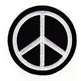 Bestellmich / Aufnäher - Parche aplicable mediante planchado, con diseño de símbolo de la paz