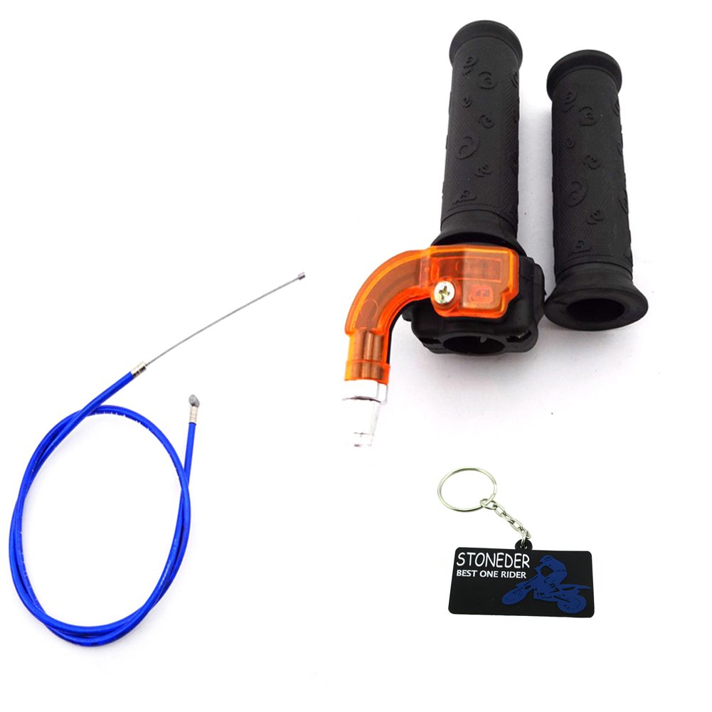 STONEDER torsione acceleratore Grips + cavo blu per 43 47 49 cc mini Dirt bike Pocket Quad