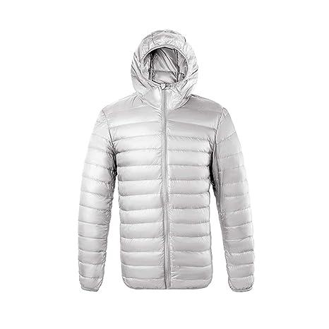 Pato blanco Abajo Acolchado Chaqueta de invierno de los hombres Chaqueta acolchada ultraligera Casual Cálido prendas