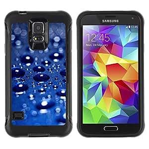 """Hypernova Defender Series TPU protection Cas Case Coque pour Samsung Galaxy S5 V [Lluvia del coche azul metálico Sun Perlado""""]"""