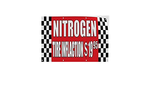 Set of 10 Decal Sticker Multiple Sizes Nitrogen Tire Inflation $19.95 Auto Body Shop Automotive Nitrogen Outdoor Store Sign Red 24inx18in