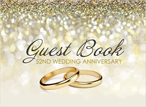 Guest Book 52nd Wedding Anniversary Beautiful Ivory Guest Book