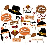( 29 count)Give Thanks,Thanksgiving Day Photo Booth Props,Happy Thanksgiving Photo Booth Props Decorations