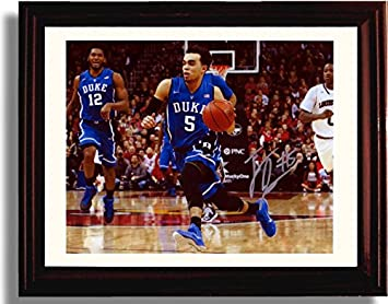 40cac77f35c Image Unavailable. Image not available for. Color  Framed Duke Blue Devils  2015 Tyus Jones ...