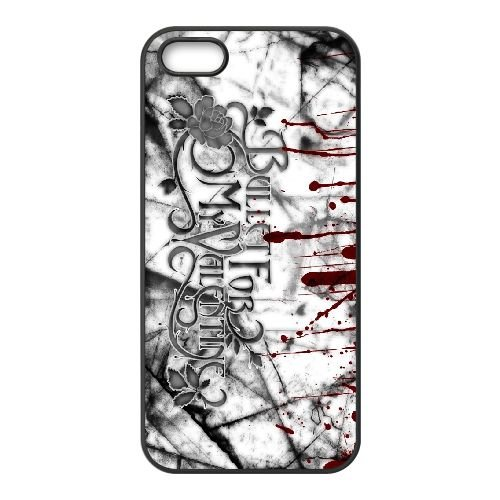 Bullet For My Valentine 005 coque iPhone 4 4S cellulaire cas coque de téléphone cas téléphone cellulaire noir couvercle EEEXLKNBC23949