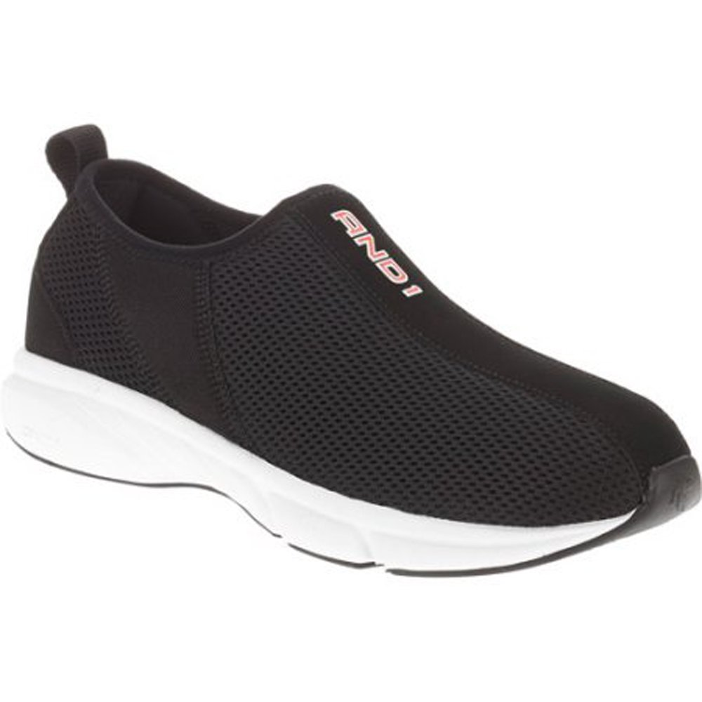 AND1 Post Game Slip On Athletic Shoe (7 US (MEX-25), Black