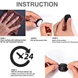 OHill Pack of 24 Self Adhesive Black Cable Clip