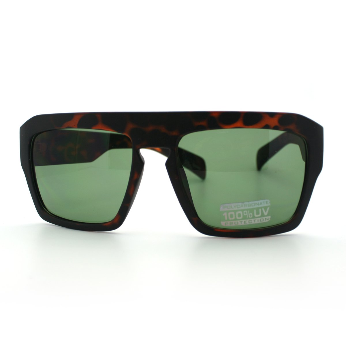 427224d248fa Amazon.com  Tortoise Heavy Frame Flat Top Mobster Keyhole Sunglasses   Clothing