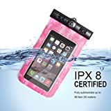 VIEWPRO Universal Waterproof Case IPX8 Waterproof Phone Pouch Underwater Dry Bag with Armband & Neck Strap for iPhone X/8/8plus/7/7plus/6s/6/6s plus Samsung galaxy s9/s8 Google Pixel HTC LG up to 6.0''