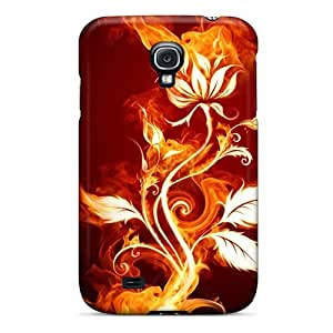 DaMMeke Snap On Hard Case Cover Fire Flower Protector For Galaxy S4