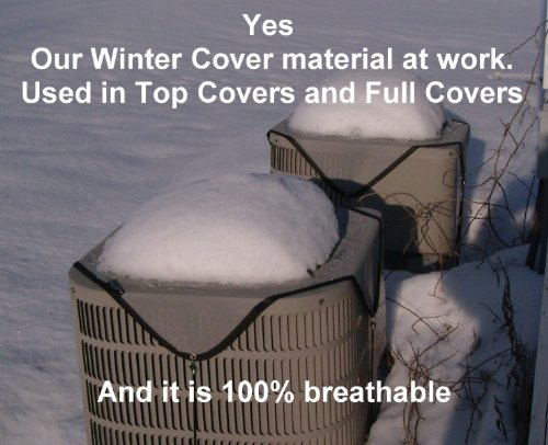 HeavyDuty Beathable Tight Mesh Winter Full Air Conditioner Cover - 28x28x28Ht - Gray by PremierAcCovers (Image #2)