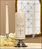 Faith, Hope & Love Wedding Candles - 2 Pack