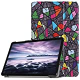 Galaxy Tab A 10.5 Case - UZER Colored Drawing Series Ultra Slim Lightweight PU Leather Smart Case Protective Folio Trifold Stand with Soft TPU Back Cover for Samsung Galaxy Tab A 10.5