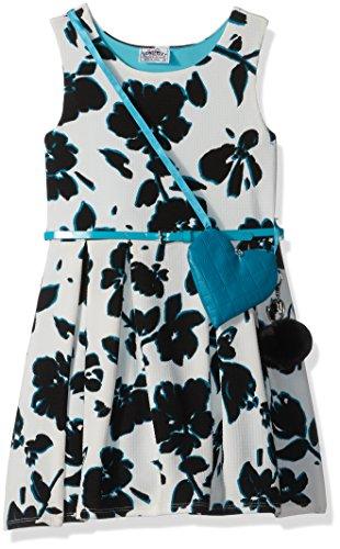 Black Beautees Little Print Sleeveless Dress Floral Girls' Skater wZ0xUqrZP
