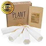 Home Treatment Water Retention Vacation Plant Waterer By Natural Delicacies- Durable Eco-Plastic Set Of 4 Plant Watering Stakes + BONUS Water Retaining Gel SAP- Premium Self-Watering Plant Pots, Great For Vacation Plant Watering