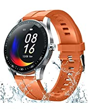 Smartklocka för kvinnor, kroppstemperatur smartklocka med puls blodtryck blod syremätare, smartklocka fitnessmätare för ios Android ..