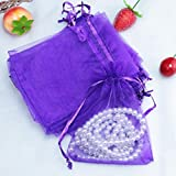 100 Pcs Organza Bags Pouch Box Pocket For Wedding Jewellery Gift,7x5CM,Tuscom (T) For Sale