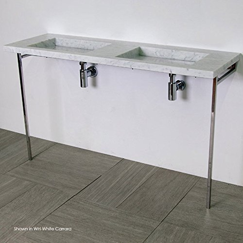 Floor standing stainless steel console stand. Lavatory 5302 and 5302s are sold separately. W: 54 1/2